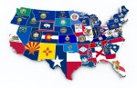 State Flags Map USA